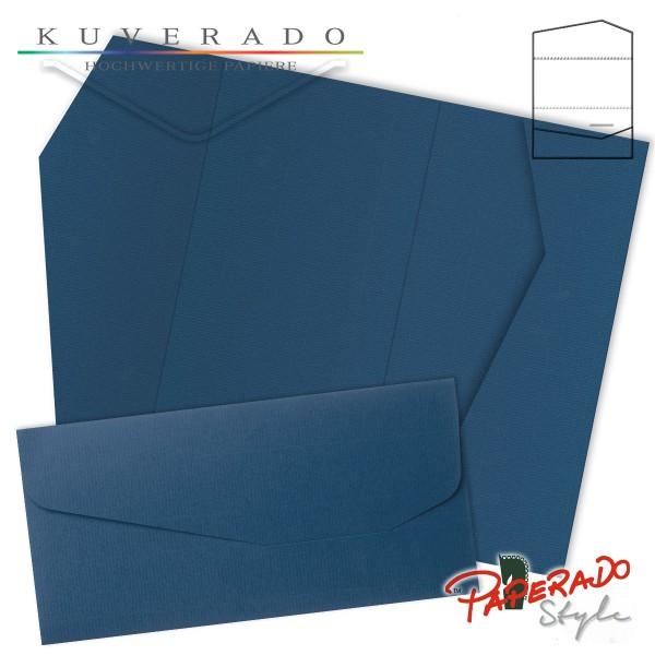 PAPERADO Style - Karte mit Einstecktasche in jeansblau