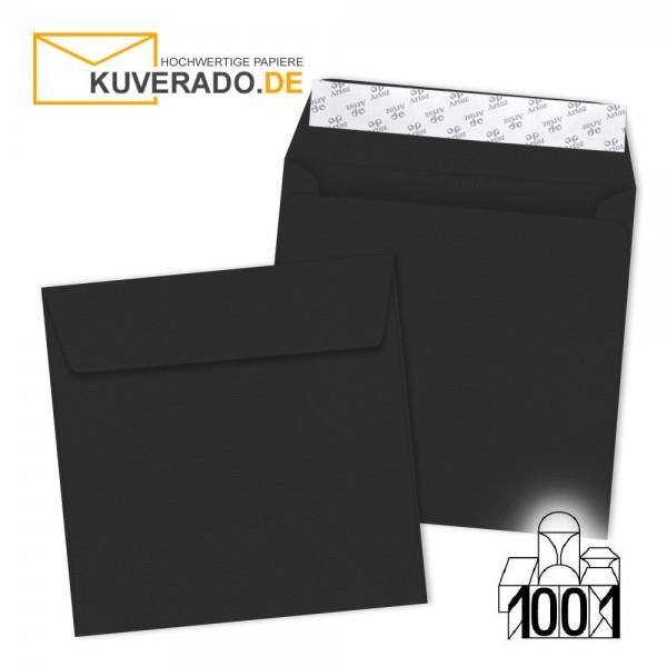 Artoz Briefumschläge schwarz quadratisch 160x160 mm