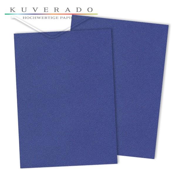 Briefpapier metallic blau 120 g/qm