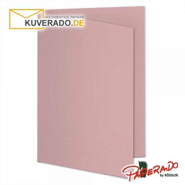 Paperado Karten in rose / rosa DIN A6
