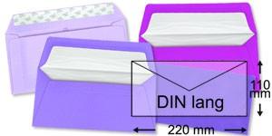 110x220 mm (DIN lang)   lila