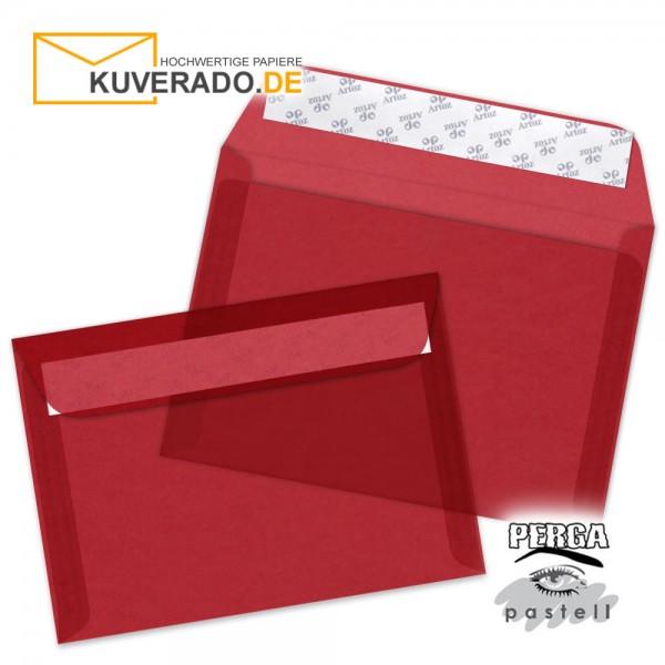 Artoz transparente Briefumschläge kirschrot DIN B6