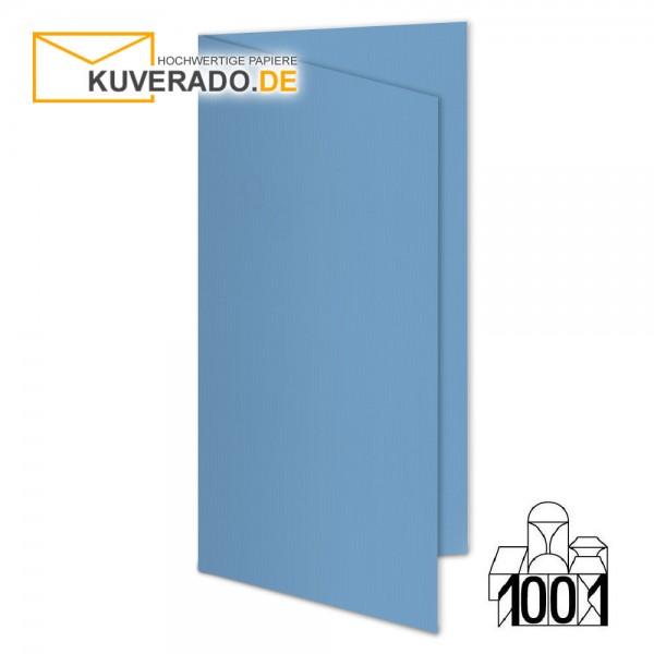 Artoz 1001 Faltkarten marienblau DIN lang Hochformat mit Wasserzeichen