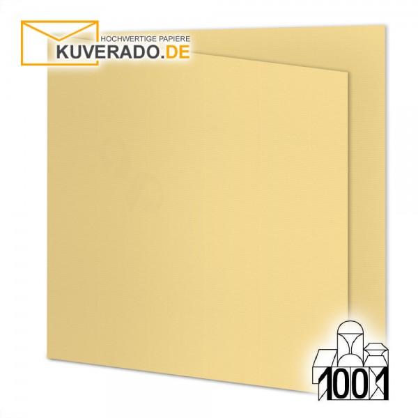 Artoz 1001 Faltkarten honiggelb quadratisch 155x155 mm mit Wasserzeichen