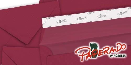 rosso-rote Briefumschläge von Rössler Papier - Paperado