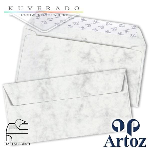 Artoz Antiqua marmorierte Briefumschläge grau DIN lang