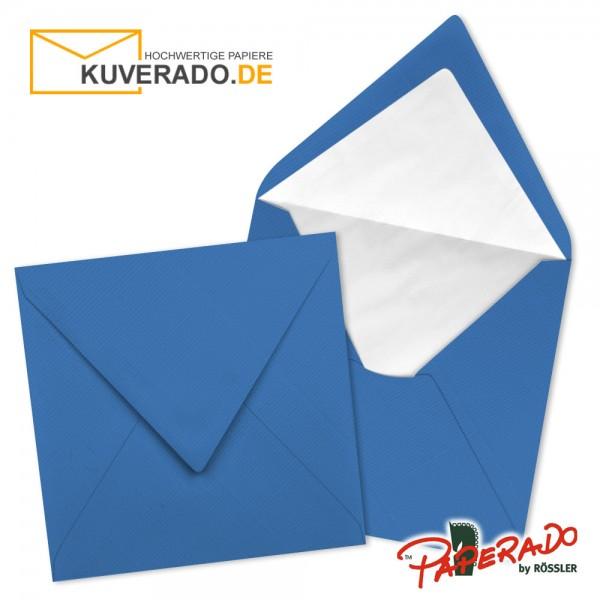 Paperado quadratische Briefumschläge in stahlblau 164x164 mm