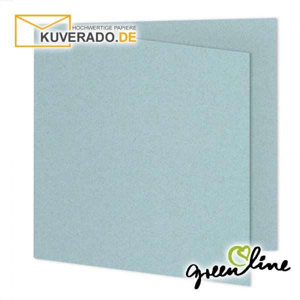ARTOZ Greenline pastell | Recycling Faltkarten in misty-blue quadratisch