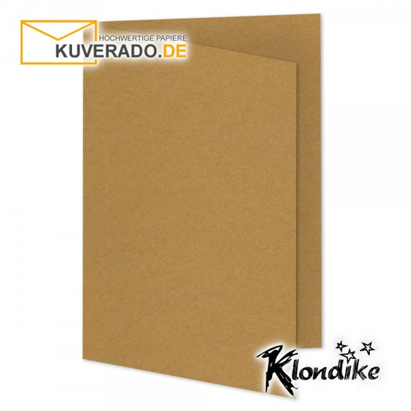 Artoz Klondike Karten in rotgold-metallic DIN E6