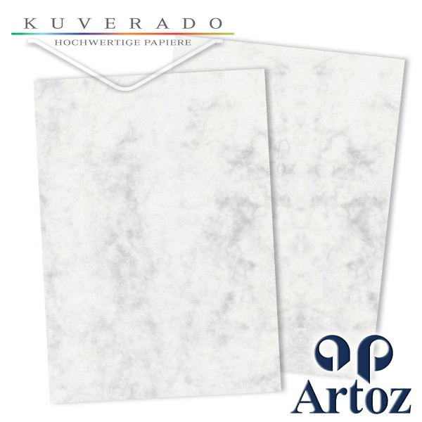 Artoz Antiqua marmorierter Briefkarton grau DIN A4