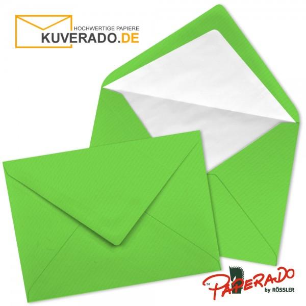 Paperado Briefumschläge in apfelgrün DIN C7 nassklebend