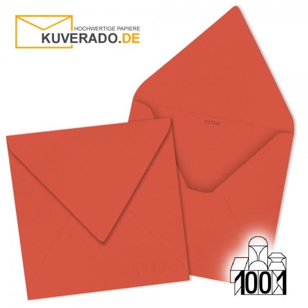 Artoz Briefumschläge hellrot quadratisch 135x135 mm