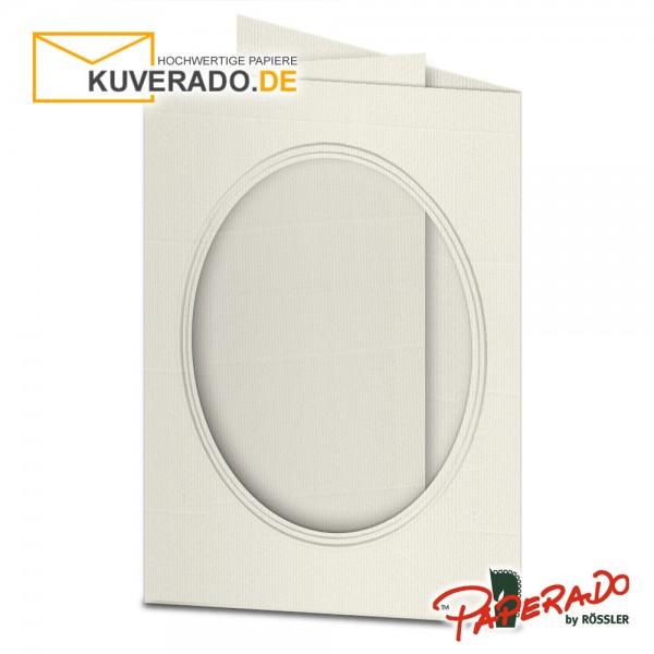 Paperado Passepartoutkarten mit ovalem Ausschnitt in ivory DIN B6