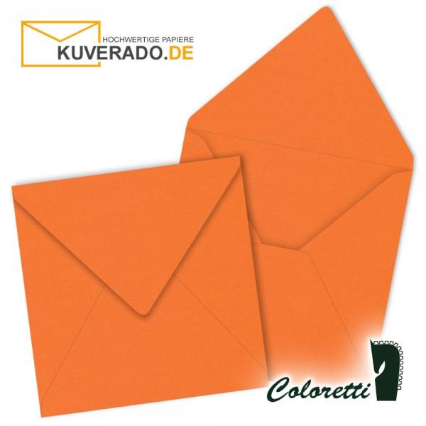 Orange Briefumschläge in apfelsine quadratisch von Coloretti