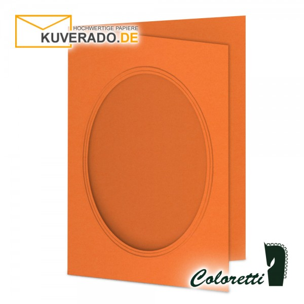 Orange Passepartoutkarten in Apfelsine 220 g/qm von Coloretti