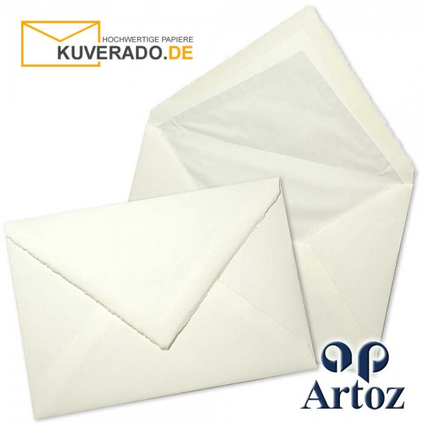 ARTOZ Rondo - Briefumschläge aus Büttenpapier im Format DIN C5 mit Seidenfutter