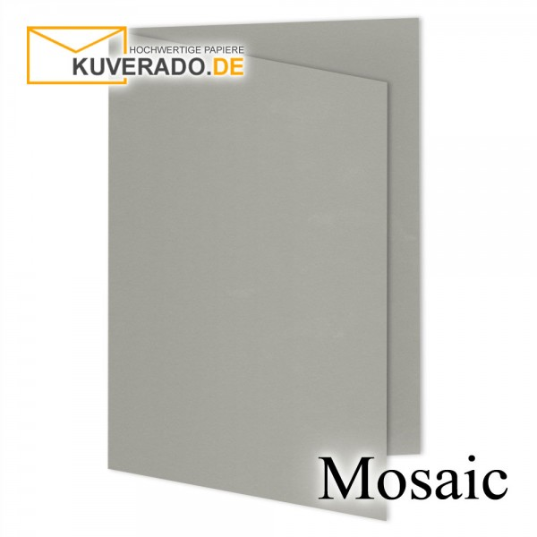 Artoz Mosaic zementgraue Doppelkarten DIN A6
