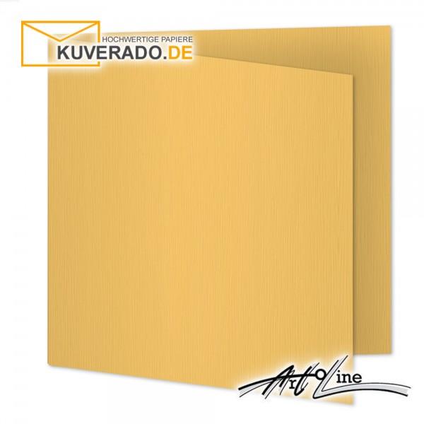 Artoz Artoline Karten/Doppelkarten in sandgold-orange quadratisch