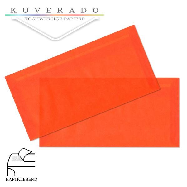 transparente Briefumschläge DIN lang in orange