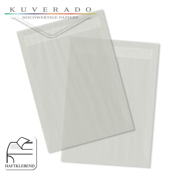 transparente Versandtaschen DIN C4 in weiß
