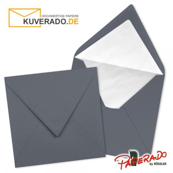 Paperado quadratische Briefumschläge in schiefergrau 164x164 mm