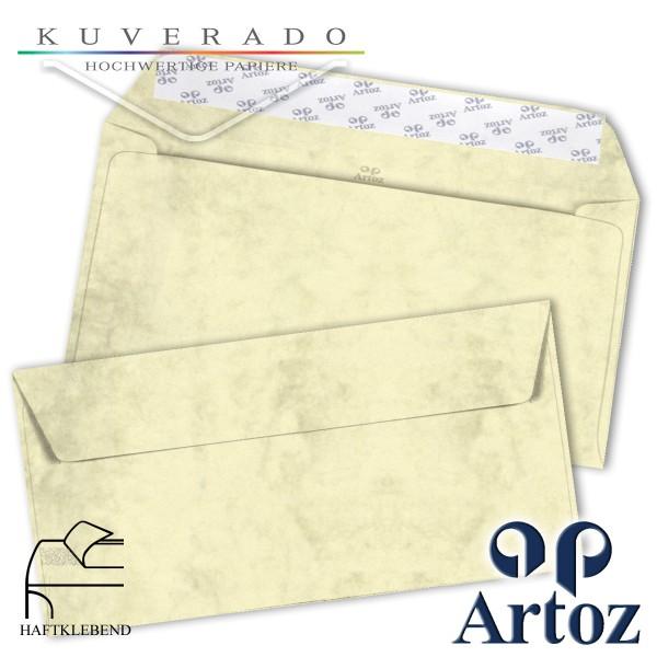 Artoz Antiqua marmorierte Briefumschläge chamois DIN lang