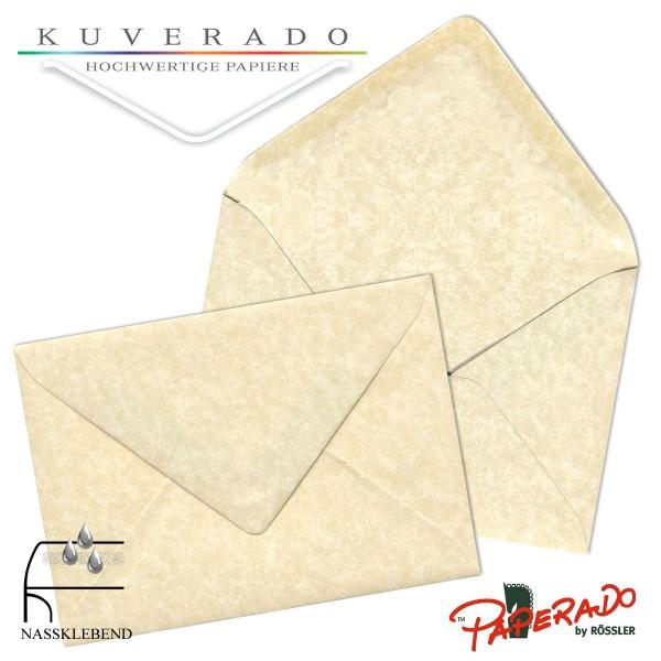 Paperado marmorierte Briefumschläge in vellum beige 225x315 mm