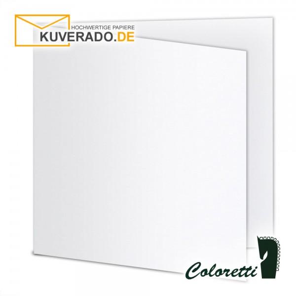 Weiße Doppelkarten in quadratisch 220 g/qm von Coloretti