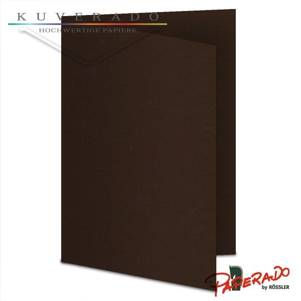 Paperado Karten in braun chocolate DIN A5