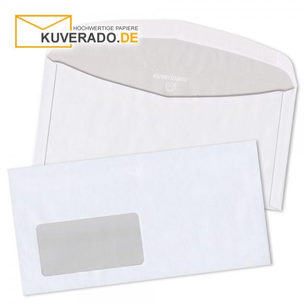 MAILmedia DIN C6/5 Kuvertierhüllen in weiß mit Adressfenster nassklebend 75g/qm