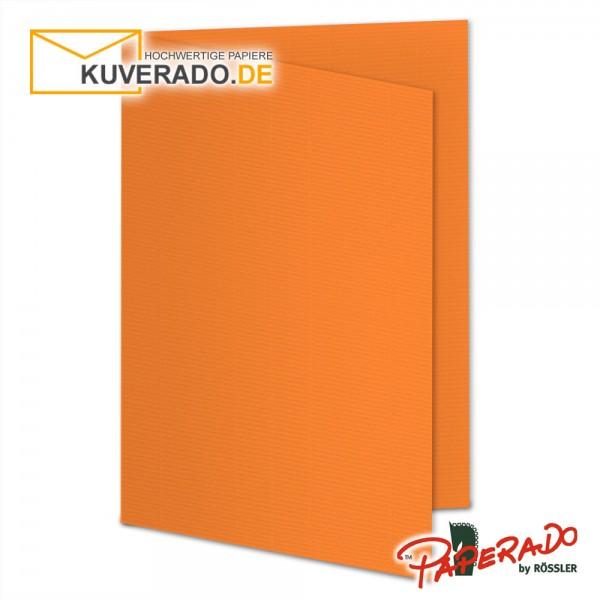 Paperado Karten in orange DIN A5