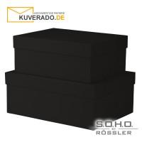 """S.O.H.O. Geschenkschachteln, 2er-Set in der Farbe """"schwarz"""""""