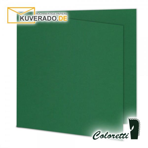 Grüne Doppelkarten in forest quadratisch 220 g/qm von Coloretti