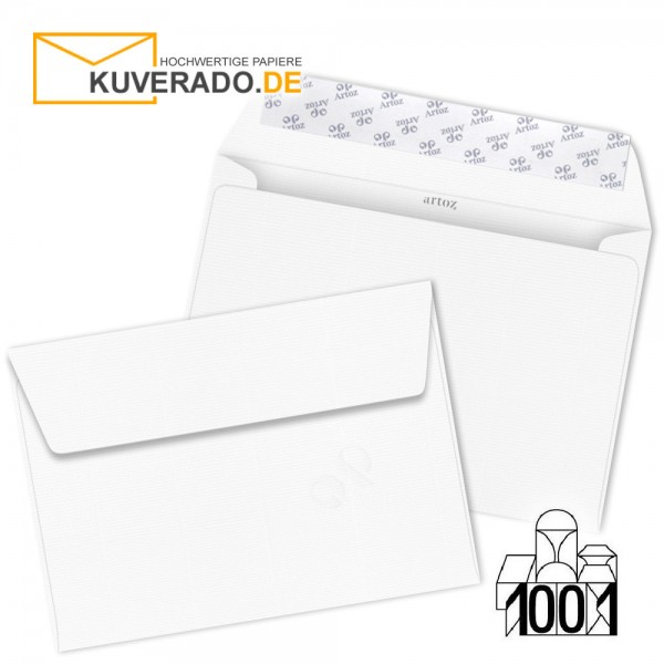 Artoz 1001 Briefumschläge Blütenweiß DIN C5