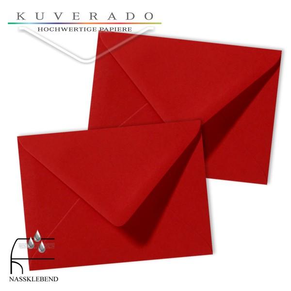 rote Briefumschläge im Format 130 x 180 mm