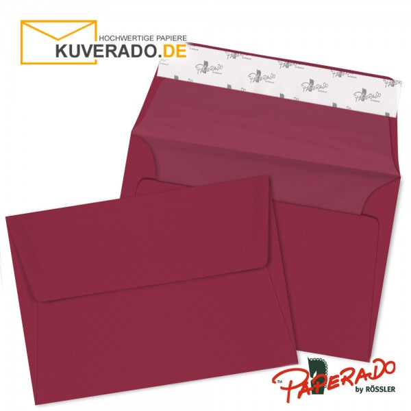 Paperado Briefumschläge rosso DIN C6