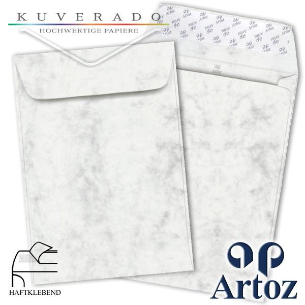 Artoz Antiqua marmorierte Briefumschläge grau DIN C4