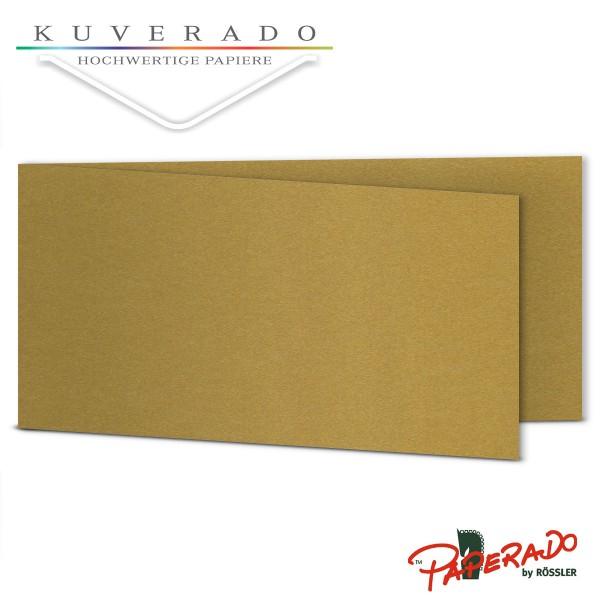 Paperado Karten in gold DIN lang Querformat