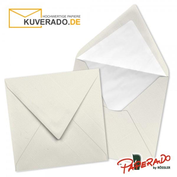 Paperado quadratische Briefumschläge in ivory beige 164x164 mm