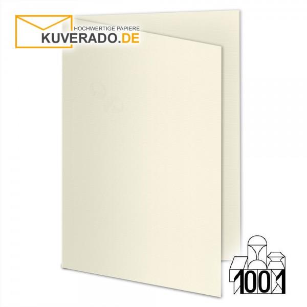 Artoz 1001 Faltkarten ivory beige DIN A5 mit Wasserzeichen