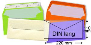 Briefumschläge im Format DIN lang