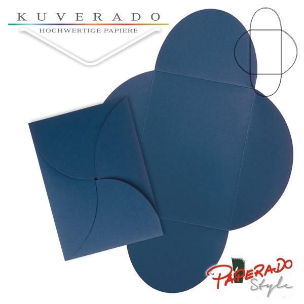 PAPERADO Style - Flügelkarte in jeansblau