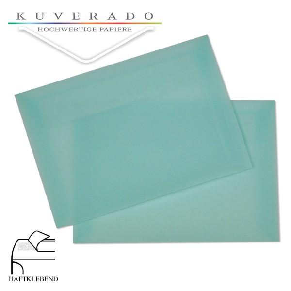 transparente Briefumschläge DIN C6 in eisblau