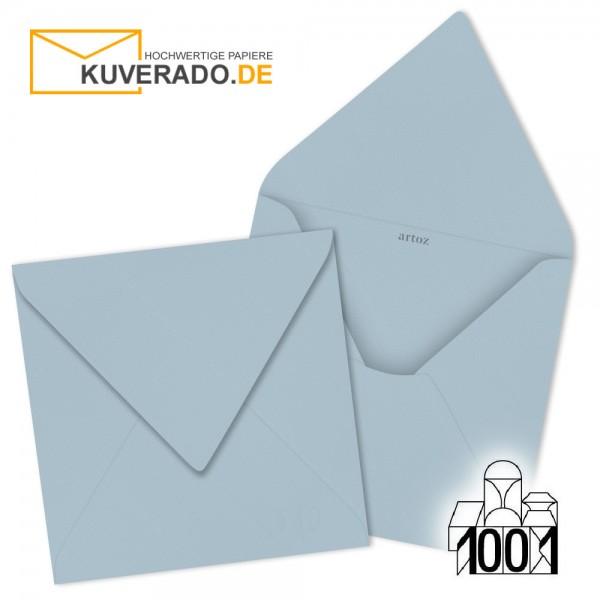Artoz 1001 Briefumschläge pastellblau quadratisch 135x135 mm