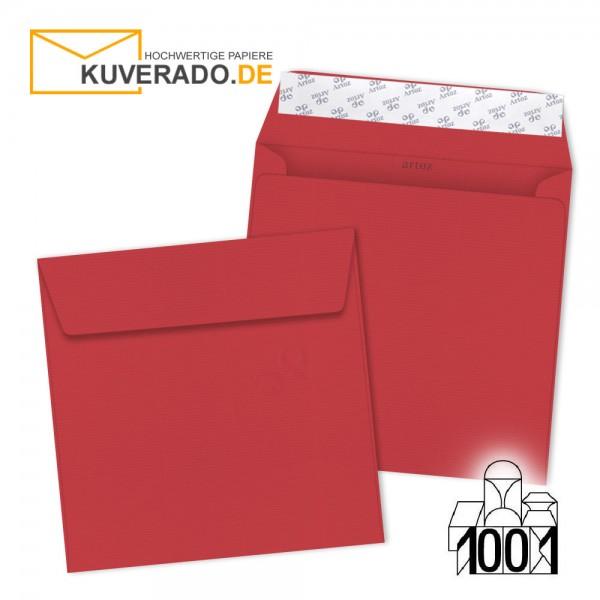 Artoz Briefumschläge rot quadratisch 160x160 mm