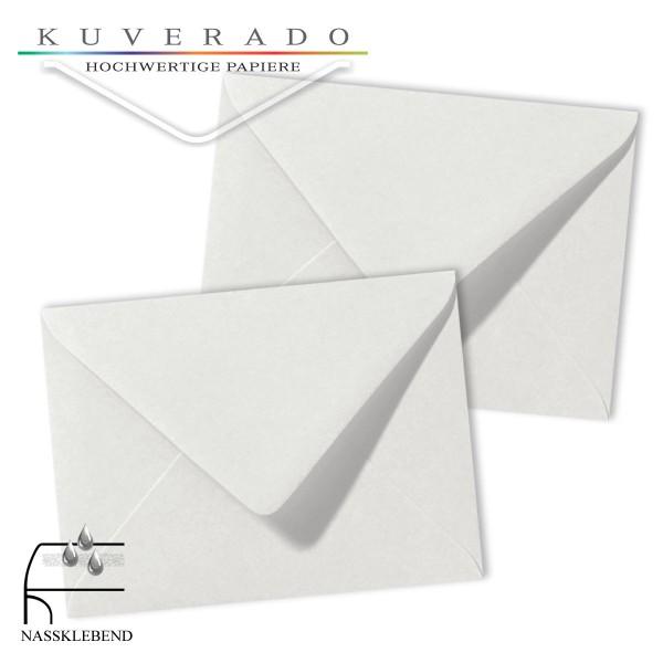 Graue Briefumschläge (Silbergrau) im Format 130 x 180 mm