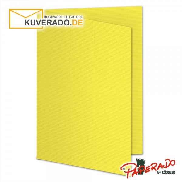 Paperado Karten in soleilgelb DIN B6