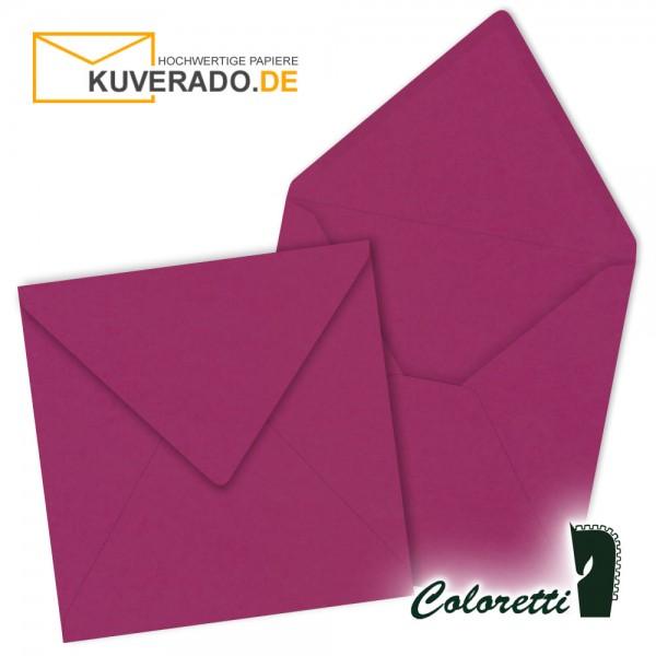 Lila Briefumschläge in amarena quadratisch von Coloretti