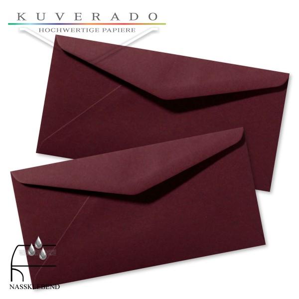 rote Briefumschläge (dunkelrot) im Format DIN lang