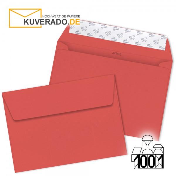 Artoz Briefumschläge wassermelon-farbig DIN C5